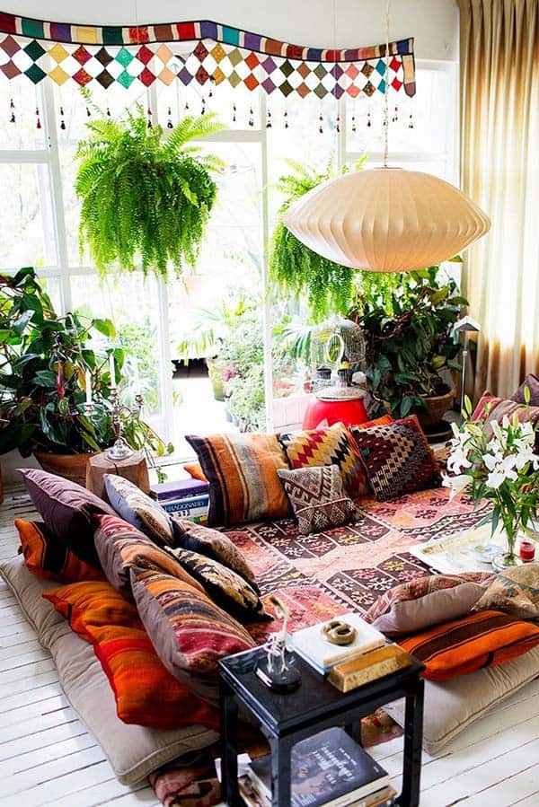 Bohemian Chic Living Rooms-08-1 Kindesign
