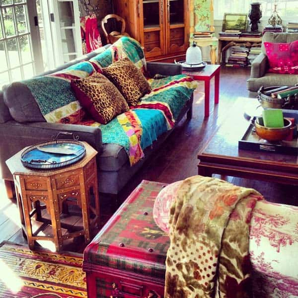 Bohemian Chic Living Rooms-09-1 Kindesign