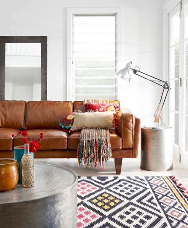 Bohemian Chic Living Rooms-13-1 Kindesign
