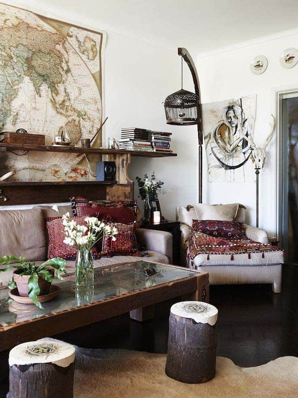 Bohemian Chic Living Rooms-14-1 Kindesign