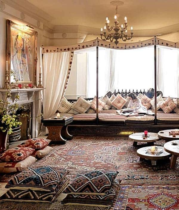Bohemian Chic Living Rooms-33-1 Kindesign