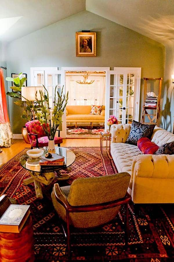 Bohemian Chic Living Rooms-41-1 Kindesign