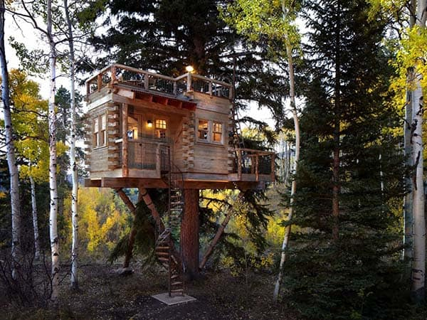 featured posts image for Remarkable Colorado mountain treehouse by Missy Brown Design