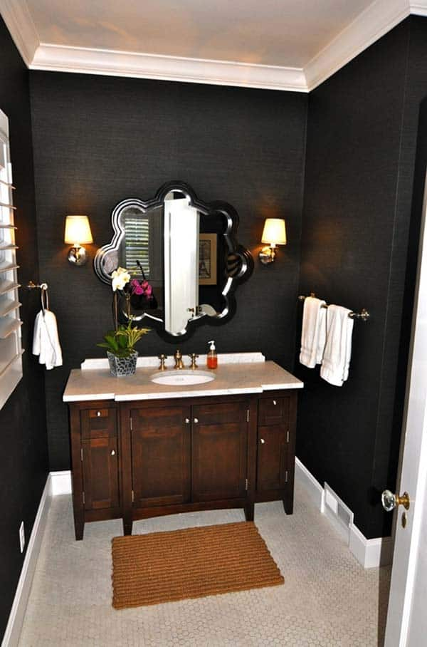 Dark and Moody Bathrooms-06-1 Kindesign