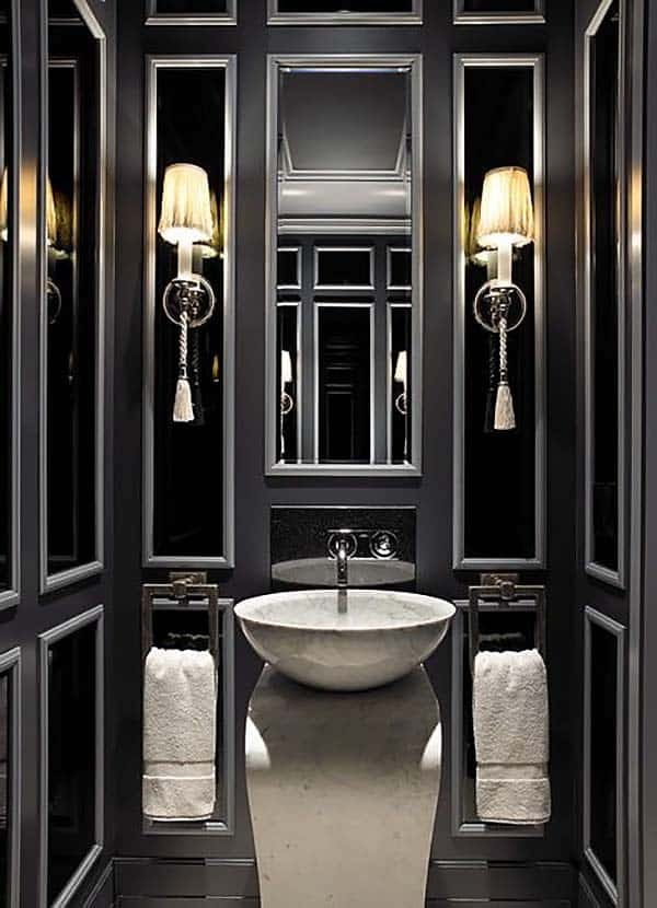 Dark and Moody Bathrooms-13-1 Kindesign