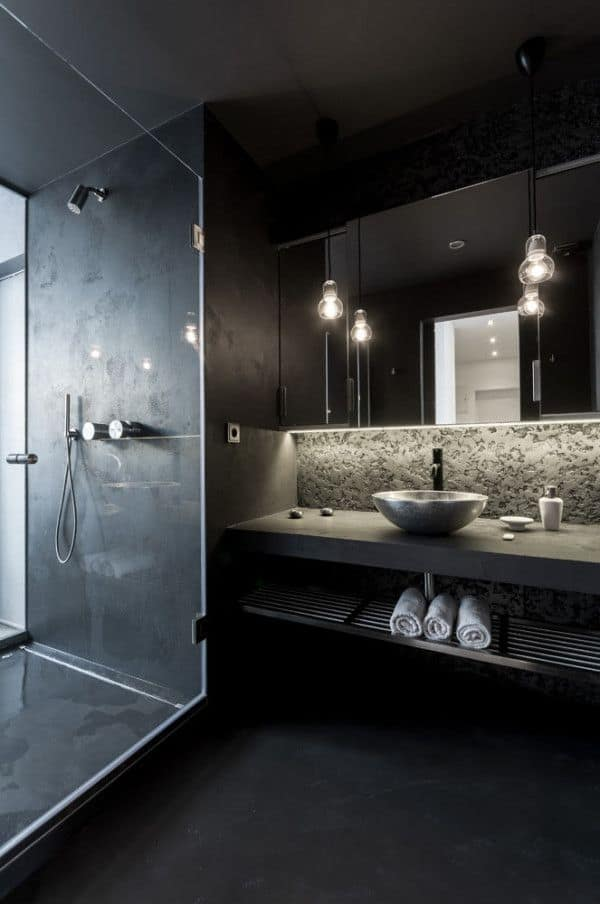 Dark and Moody Bathrooms-14-1 Kindesign