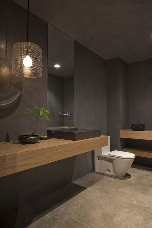 Dark and Moody Bathrooms-30-1 Kindesign