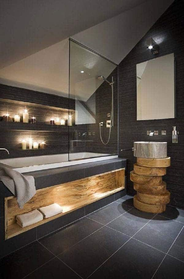 Dark and Moody Bathrooms-37-1 Kindesign