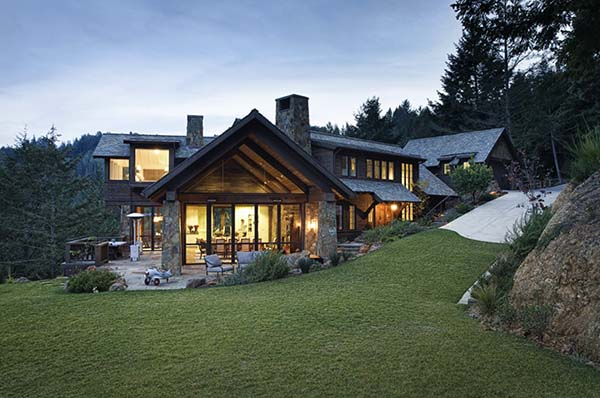 featured posts image for Mountain Lodge on Mount Tamalpais by Michael Rex Architects