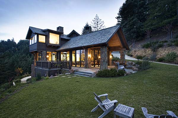Mountain Lodge Eclectic-Michael Rex Architects-02-1 Kindesign