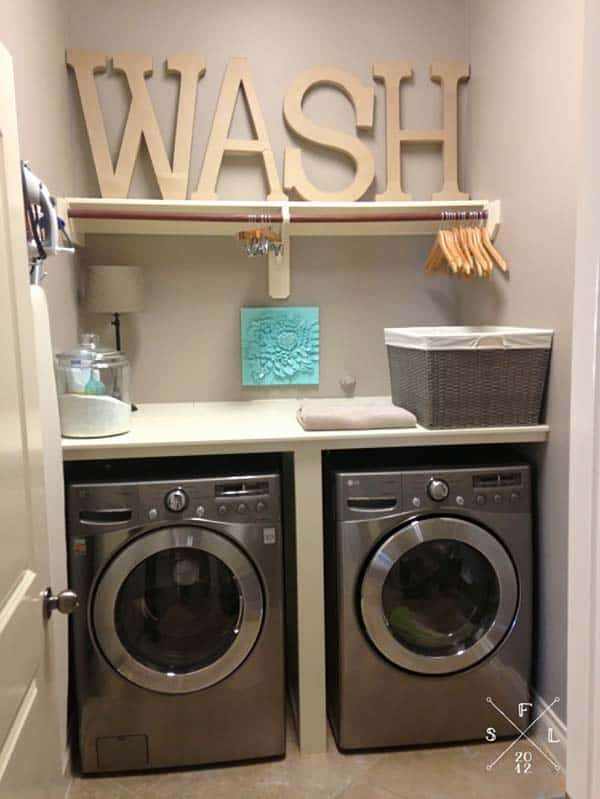 Small Laundry Room Design Ideas-01-1 Kindesign