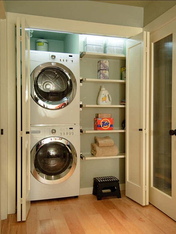 Small Laundry Room Design Ideas-04-1 Kindesign