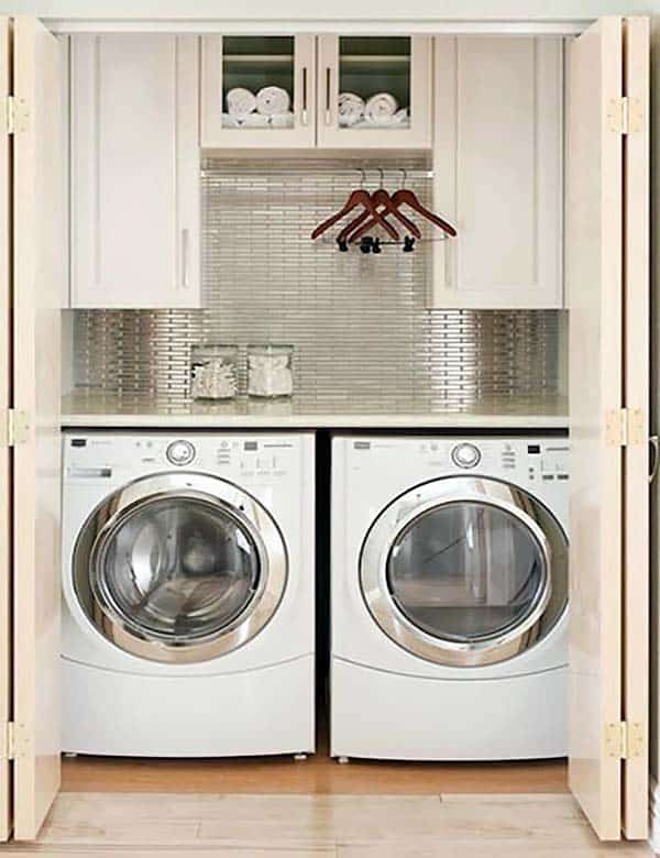 Small Laundry Room Design Ideas-08-1 Kindesign