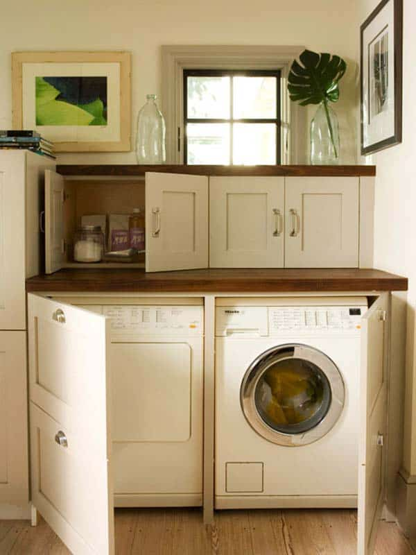 Small Laundry Room Design Ideas-13-1 Kindesign