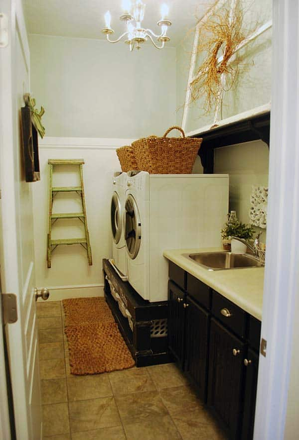 Small Laundry Room Design Ideas-20-1 Kindesign