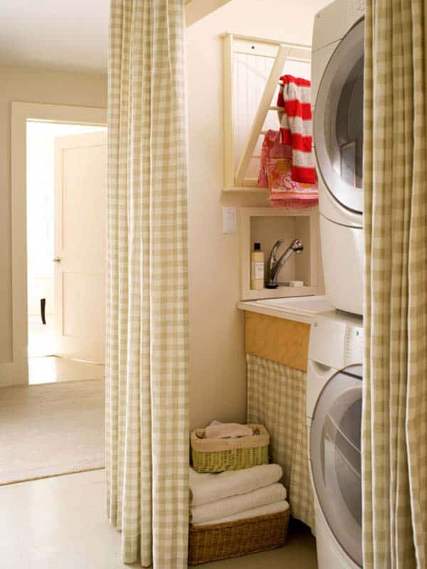 Small Laundry Room Design Ideas-21-1 Kindesign