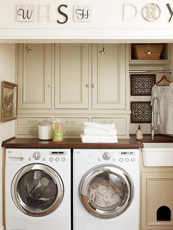 Small Laundry Room Design Ideas-37-1 Kindesign