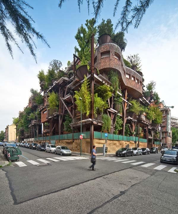 featured posts image for Residential steel structure appears as living forest in Italy