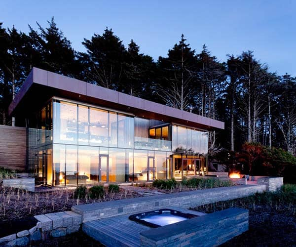 featured posts image for Minimal glass and steel structure on Oregon Coast: 360 House
