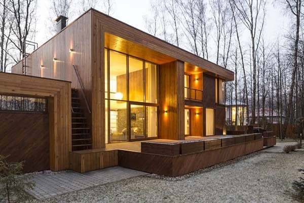 featured posts image for Modern forest house in the suburbs of Moscow by M2 Architectural Group