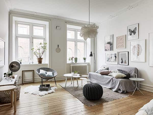 featured posts image for Cozy one bedroom Scandinavian designed flat with open floor plan