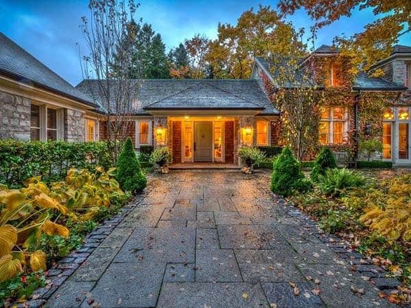 featured posts image for Renovated stone farmhouse nestled on wooded estate in Ontario