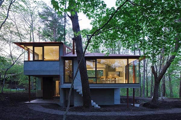featured posts image for Contemporary hilltop residence surrounded by forest in Japan