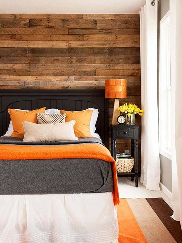 39 Jaw,dropping wood clad bedroom feature wall ideas