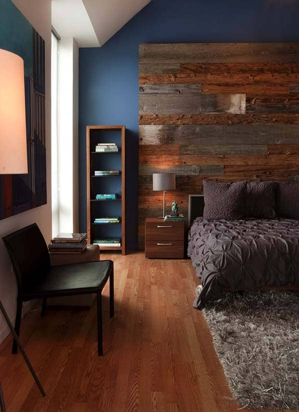 Wood Clad Bedroom Walls-02-1 Kindesign