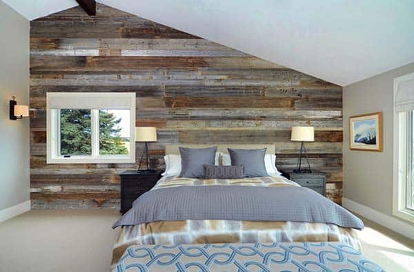 Wood Clad Bedroom Walls-05-1 Kindesign