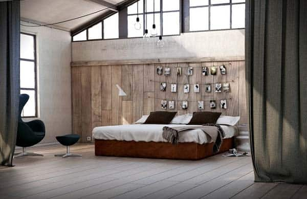 Wood Clad Bedroom Walls-07-1 Kindesign