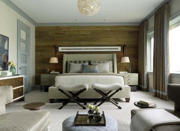 Wood Clad Bedroom Walls-08-1 Kindesign