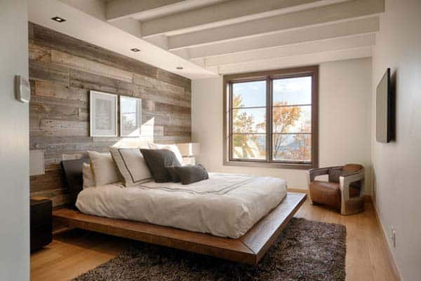 Wood Clad Bedroom Walls-09-1 Kindesign