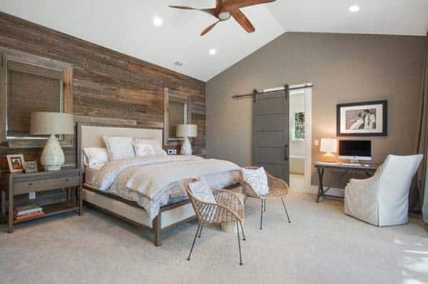 Wood Clad Bedroom Walls-10-1 Kindesign