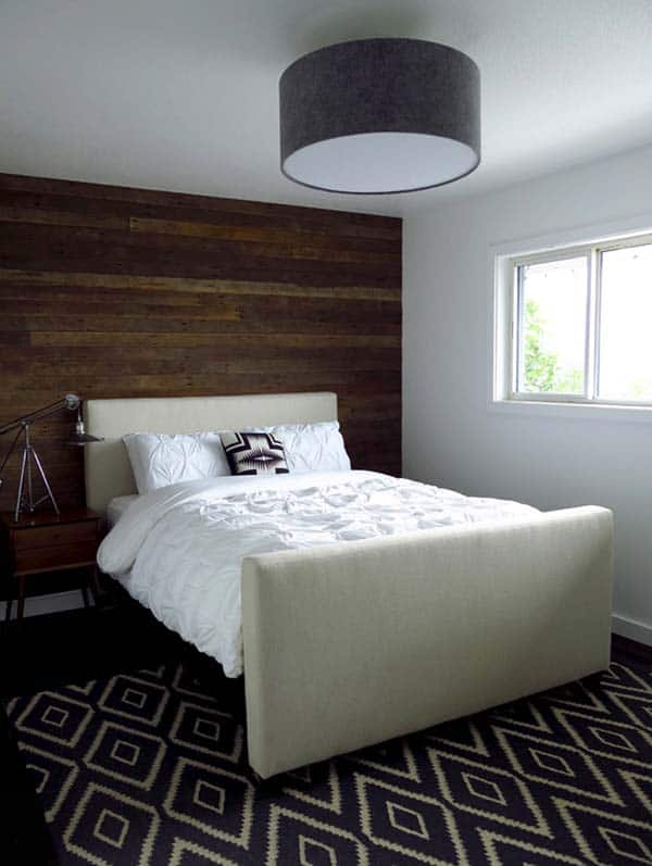 Wood Clad Bedroom Walls-11-1 Kindesign