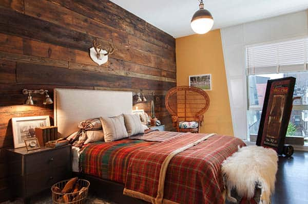 Wood Clad Bedroom Walls-14-1 Kindesign