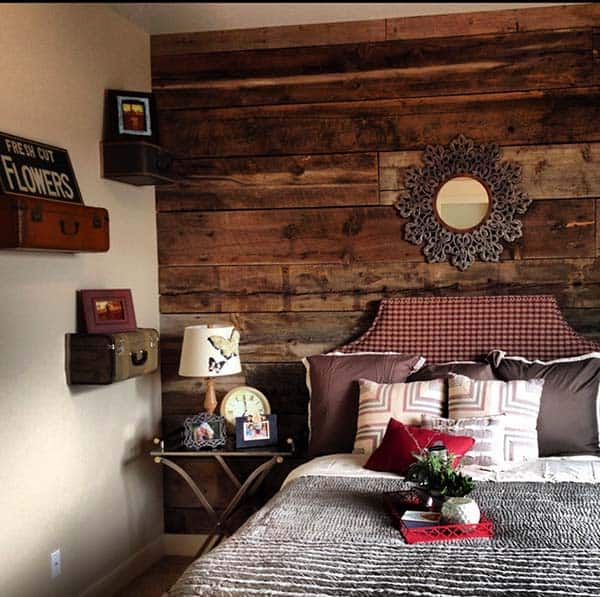 Wood Clad Bedroom Walls-16-1 Kindesign