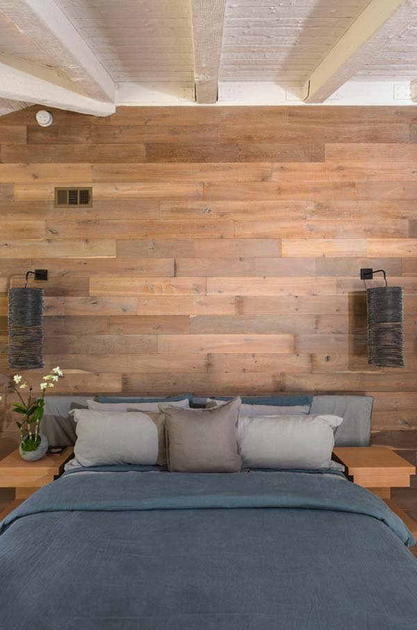 Wood Clad Bedroom Walls-20-1 Kindesign