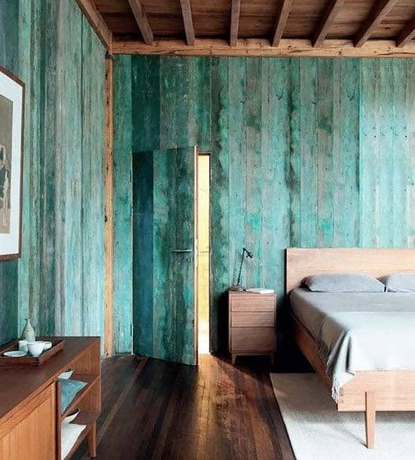 Wood Clad Bedroom Walls-22-1 Kindesign