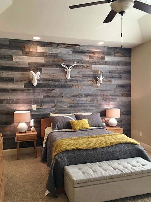 Wood Clad Bedroom Walls-23-1 Kindesign