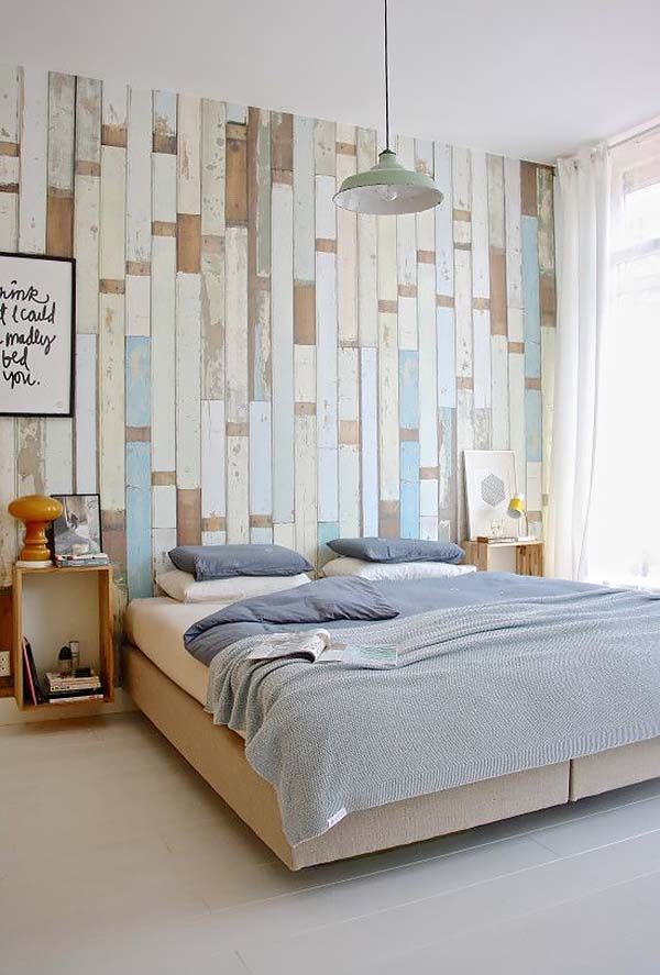 Wood Clad Bedroom Walls-26-1 Kindesign