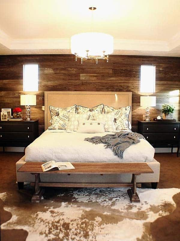 39 jaw dropping wood clad bedroom feature wall ideas. Black Bedroom Furniture Sets. Home Design Ideas
