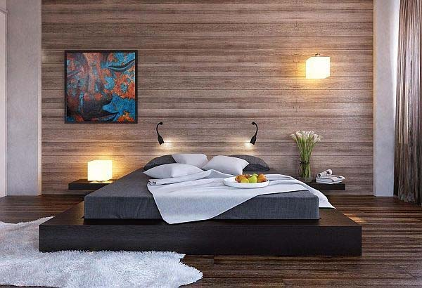 Wood Clad Bedroom Walls-30-1 Kindesign