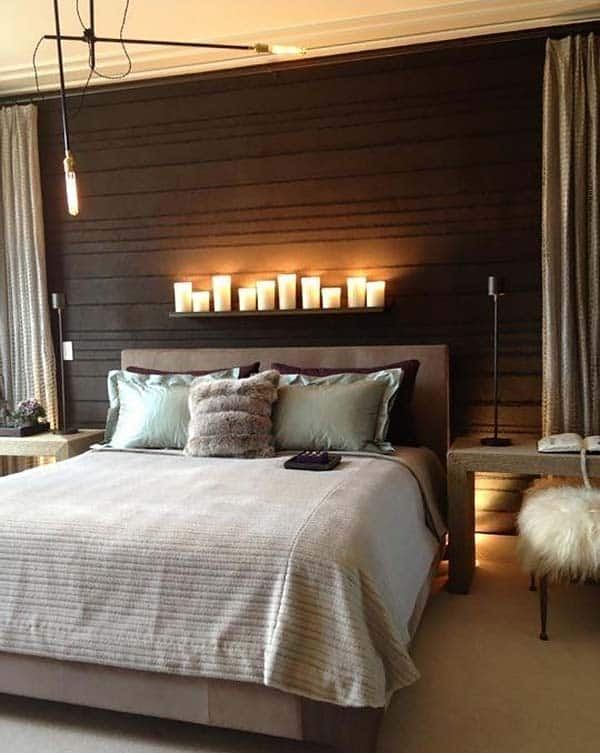 Wood Clad Bedroom Walls-31-1 Kindesign