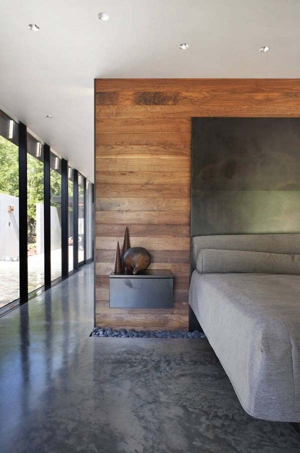 Wood Clad Bedroom Walls-37-1 Kindesign