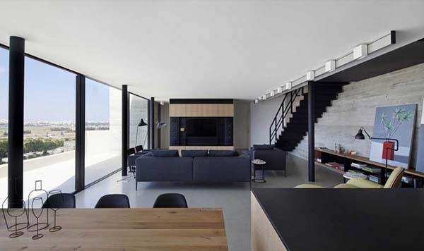Y Duplex Penthouse-Pitsou Kedem Architects-04-1 Kindesign