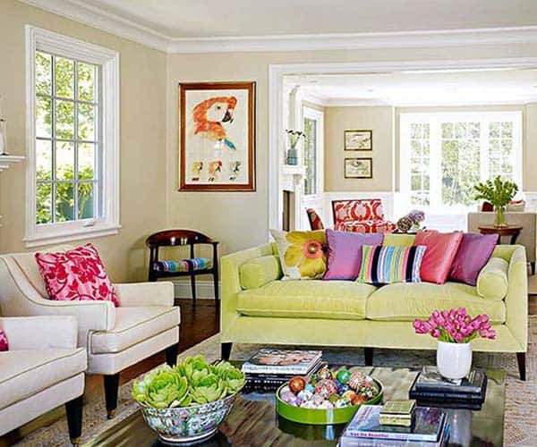 Living Room Designs Funny Colorful Living Room Decorating: 38 Small Yet Super Cozy Living Room Designs