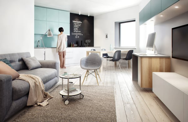 featured posts image for Visually pleasing one-bedroom apartment interiors in Russia