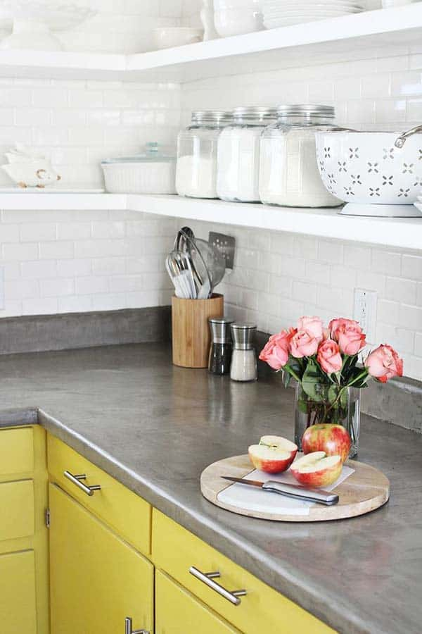 Kitchen Concrete Countertops-03-1 Kindesign