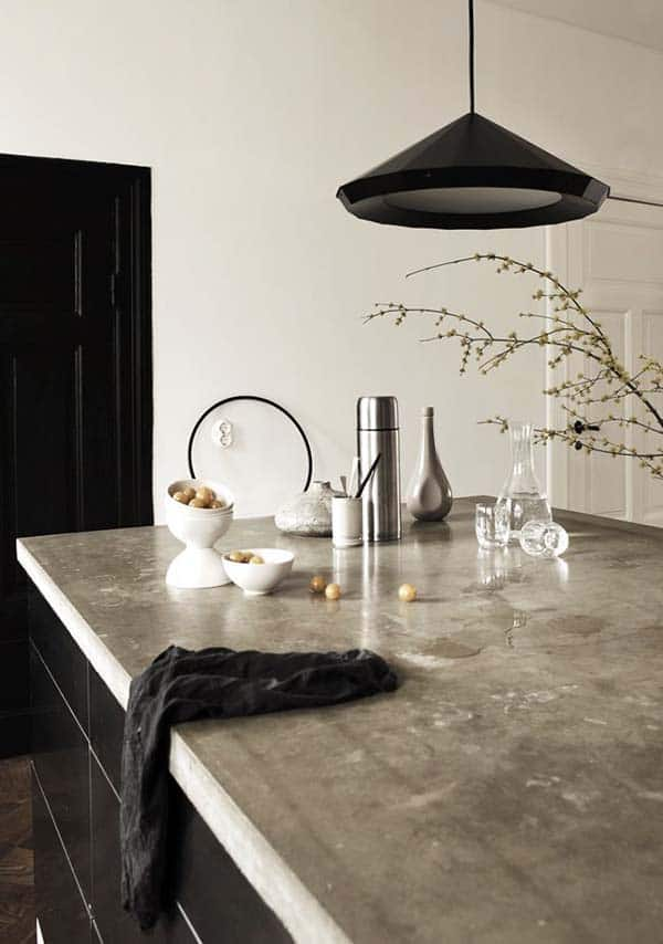 Kitchen Concrete Countertops-22-1 Kindesign